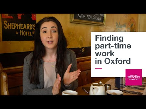 Finding part-time work in Oxford | Oxford Brookes University