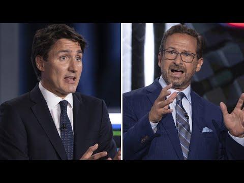 Tense exchange between Trudeau, Blanchet at French-language debate
