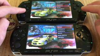 Two PSP Multiplayer Need For Speed Carbon: Own the City   WIFI. FULL HD