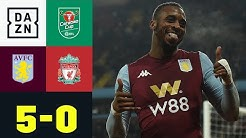 Lehrstunde! Aston Villa schießt Reds-Youngsters ab: Aston Villa - Liverpool 5:0 | Carabao Cup | DAZN