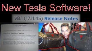 Tesla Software Update 17.11.45 & Free Tesla Merch!