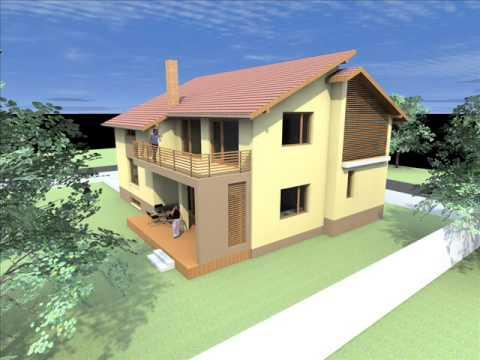 Proiect casa b08 proiecte case cu mansarda for Youtube case cu mansarda