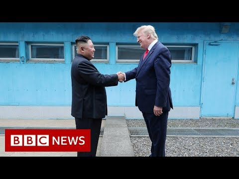 Trump and Kim Jong-un meet at Korean demilitarised zone – BBC News