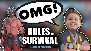 Playing with a fan!! He almost cried! | Rules Of Survival