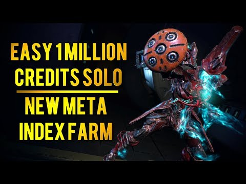 Warframe: NEW SOLO CREDIT FARM META | EASY 1 MILLION CREDITS INDEX RUN