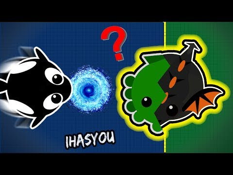 Mope.io HYBRID ANIMAL? CONFUSED BLACK DRAGON / AFK PROTECT CHALLENGE (Mope.io Funniest Trolling)