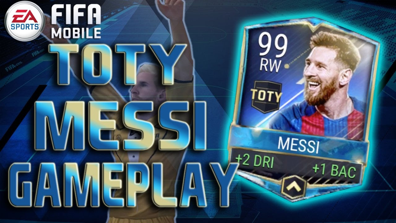 FIFA Mobile TEAM OF THE YEAR 98 OVR MESSI GAMEPLAY ...