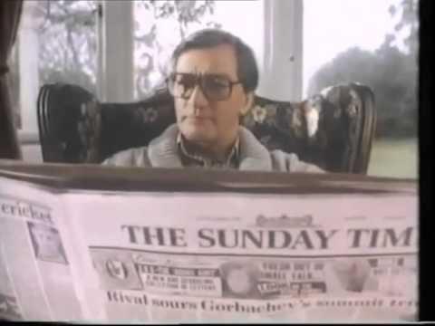 Sunday Times   Newspaper   The Perfect Sunday   1988   UK Advert