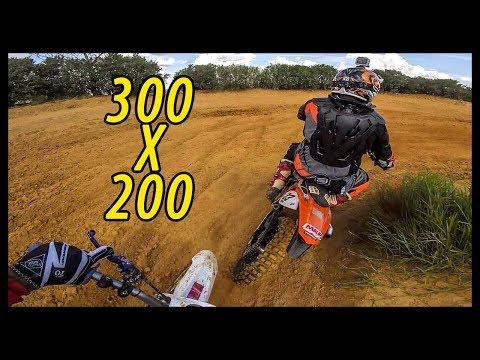 KTM 300 x DT 200 PEGA BRUTO NO VELOCROSS
