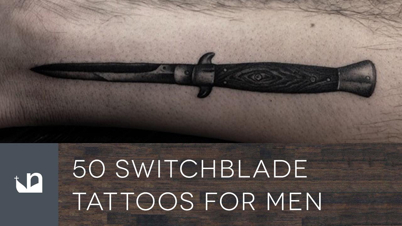 50 Switchblade Tattoo Designs For Men – Sharp Ink Ideas