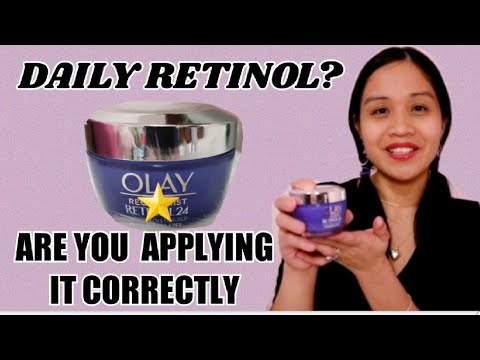 HOW I APPLY OLAY REGENERIST RETINOL 24