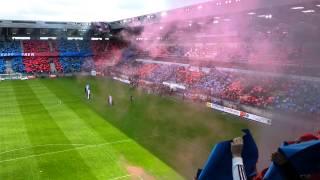 Caen - Lyon à l'entrée des joueurs !