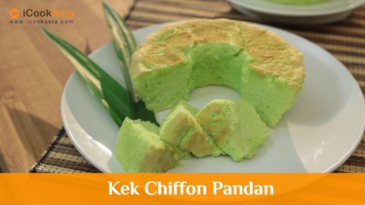 Kek Chiffon Pandan Try Masak Icookasia