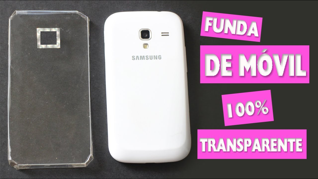 Diy haz una funda de m vil 100 transparente - Decorar funda movil ...