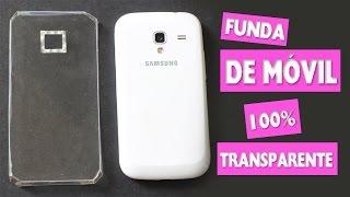DIY | Haz una Funda DE MÓVIL 100% TRANSPARENTE - Manualidades super fáciles - manualidadesconninos