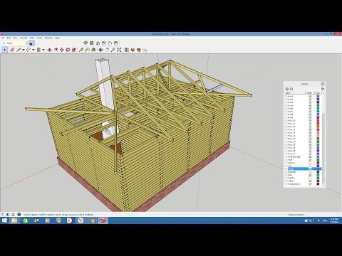 Проектирование дома из бруса в Google SketchUp