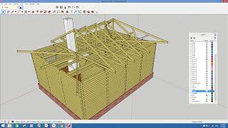 Проектирование дома из бруса в Google SketchUp(Проектирование дома из бруса в Google SketchUp является довольно простым и увлекательным процессом, который позво..., 2016-01-03T12:21:33.000Z)