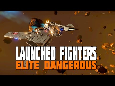 "Elite Dangerous - Launching Fighters - Crew Controlled Ships - Beta Patch 2.2 ""The Guardians"""