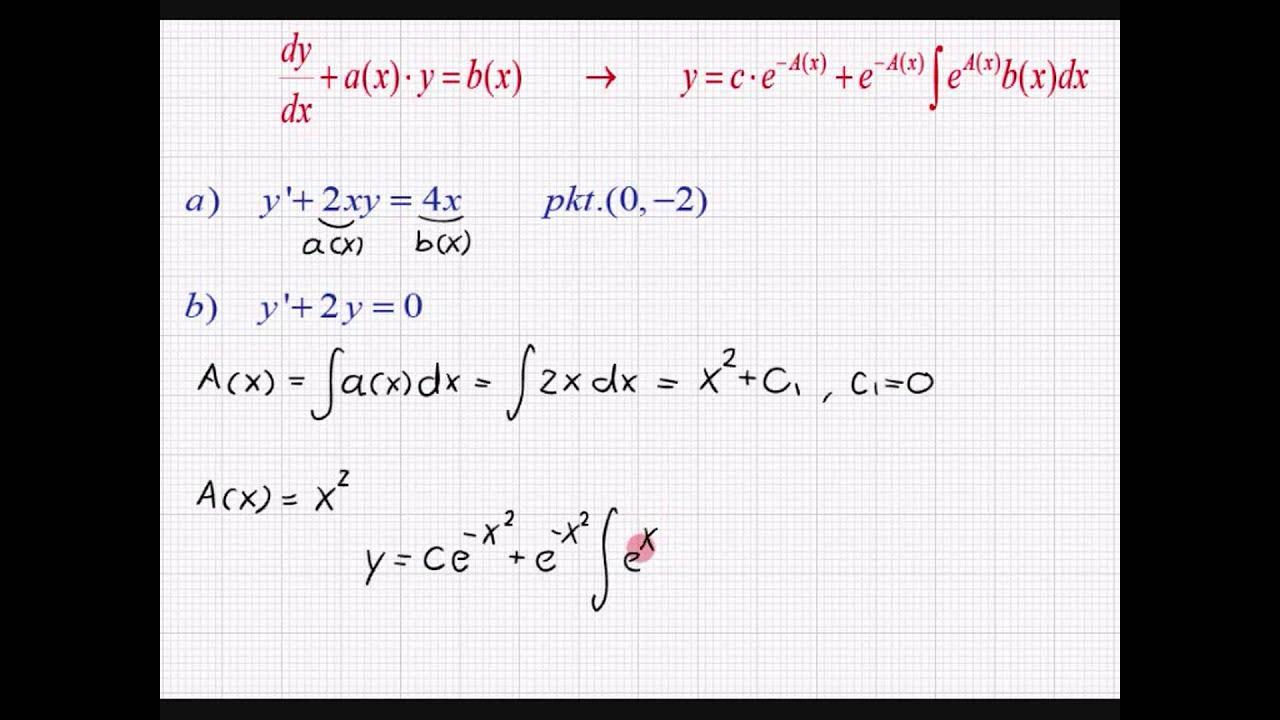 Differentialligninger - to simple eksempler