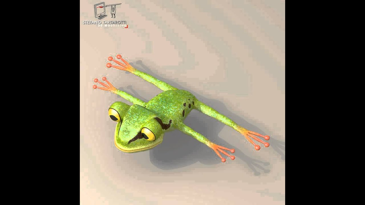 3D Model of Frog Cartoon Character Review - YouTube