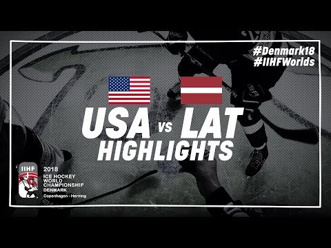 Game Highlights: United States vs Latvia May 10 2018 | #IIHFWorlds 2018