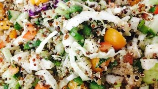 Pichuberries, Quinoa and Fresh Vegetable Salad