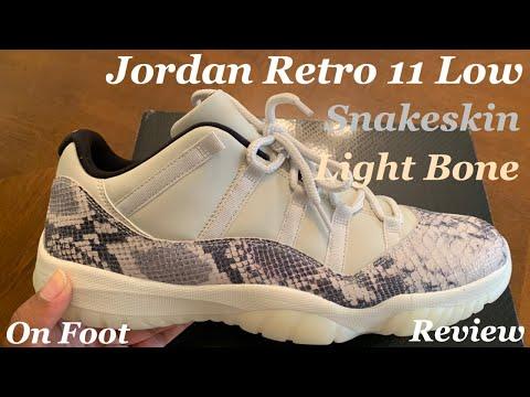 Jordan Retro 11 Low Snakeskin. Jordan Retro 11 Low Light Bone Unboxing, Detailed Review & On Foot.