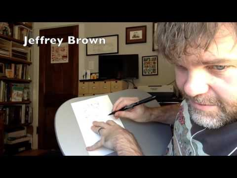 Jeffrey Brown drawing demonstration! INTERVIEW EXCERPT