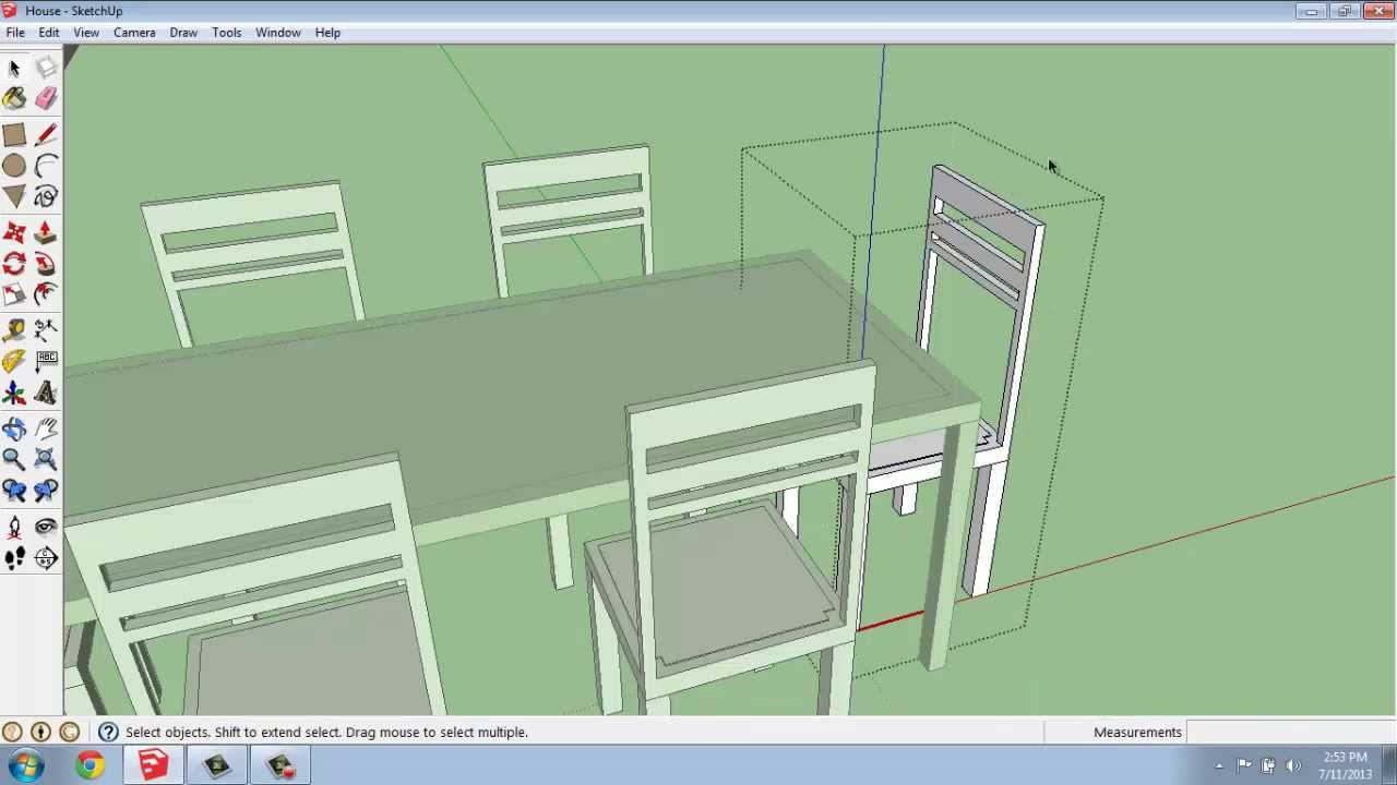 Making a glass dining table google sketchup mp3 mb for Table design sketchup