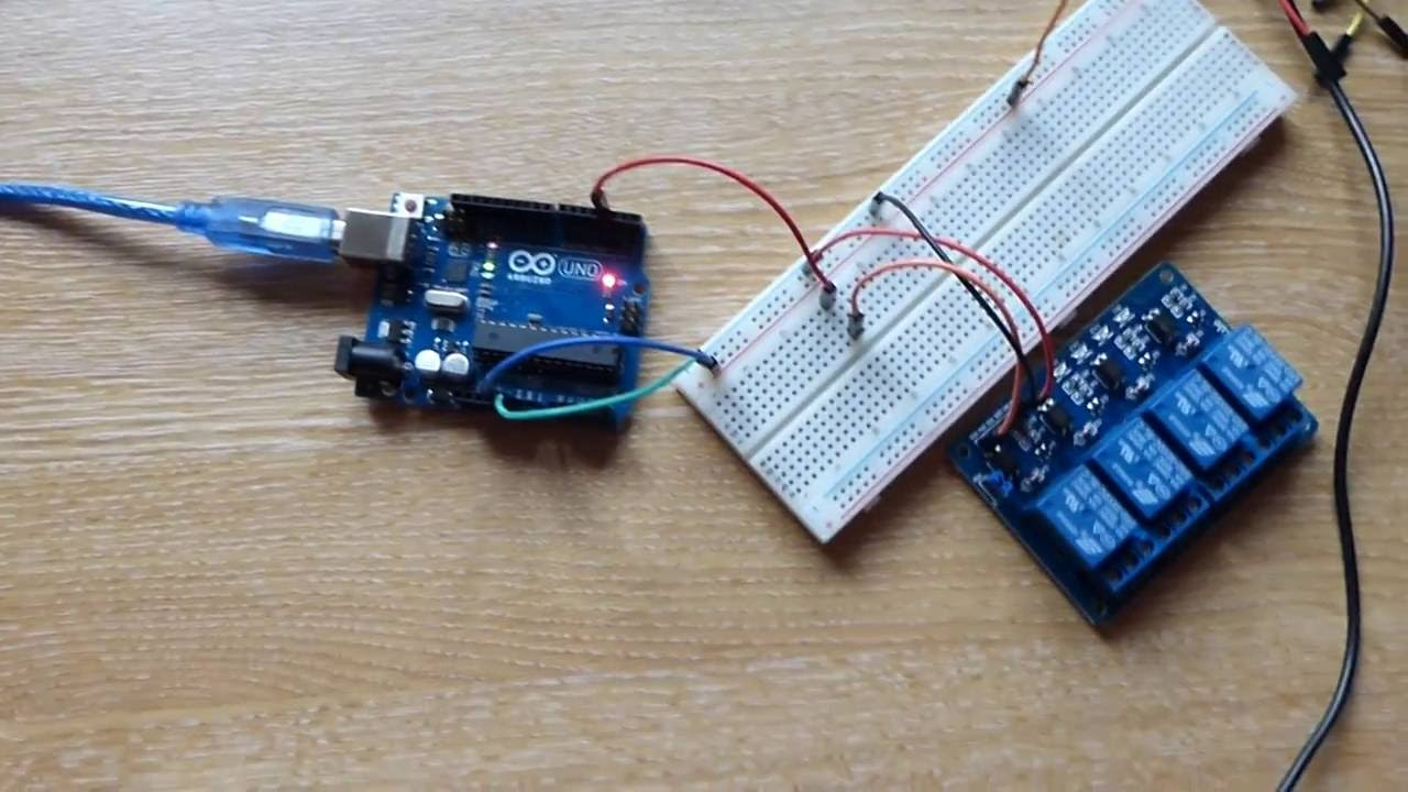 Arduino Uno Pushbutton Activates Relay Youtube Switch