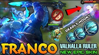 Franco Valhalla Ruler New Epic Skin Gameplay - Top Global Franco - Mobile Legends