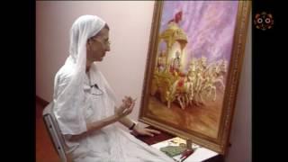 HG Shyamarani-Jadurani Paints the cover of the Bhagavad gita