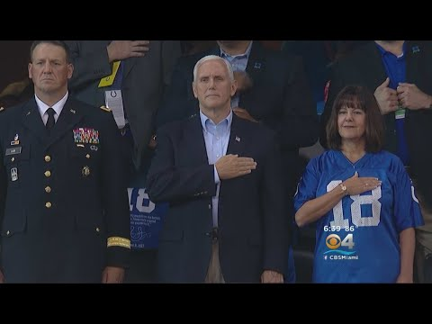 VP Pence Leaves NFL Game After Players Protest During National Anthem