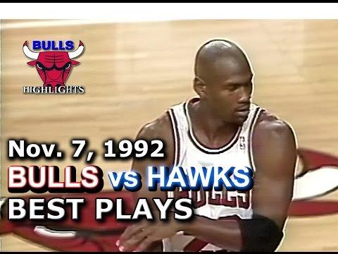November 07 1992 Bulls vs Hawks highlights