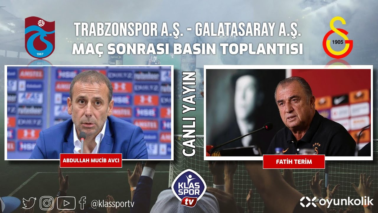 Trabzonspor - Galatasaray Basın Toplantısı ᴴᴰ (CANLI)