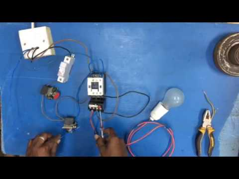 Overload relay How to connect single phase motor or Ac in tamil on