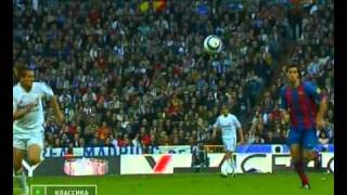 Real Madrid - Barcelona (2 half) 10.04.2005 highlights, skills, tricks, goals