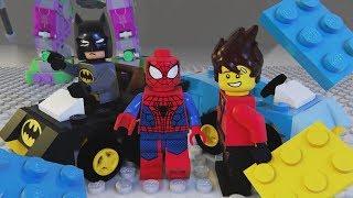 LEGO Spider Man, kid Batman, and Ninjago Brick Building Car and Robot Hulk Machine for Kids