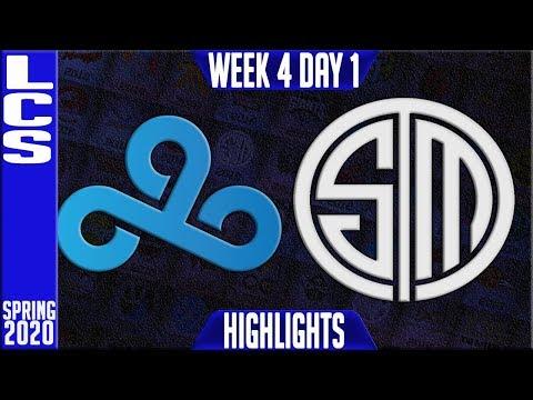 C9 vs TSM Highlights | LCS Spring 2020 W4D1 | Cloud9 vs Team Solomid