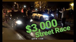 SuperCharged Nitrous GTO vs GTR $3,000 Street Race