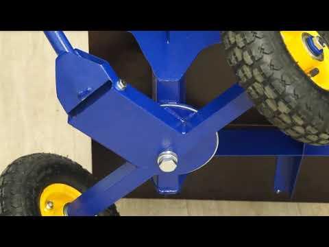 Сделать тележку своими руками на 4 колесах с поворотной осью