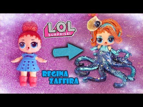 La Fake LOL Surprise diventa la Regina Zaffira 🐙 [Trasformazione LOL]
