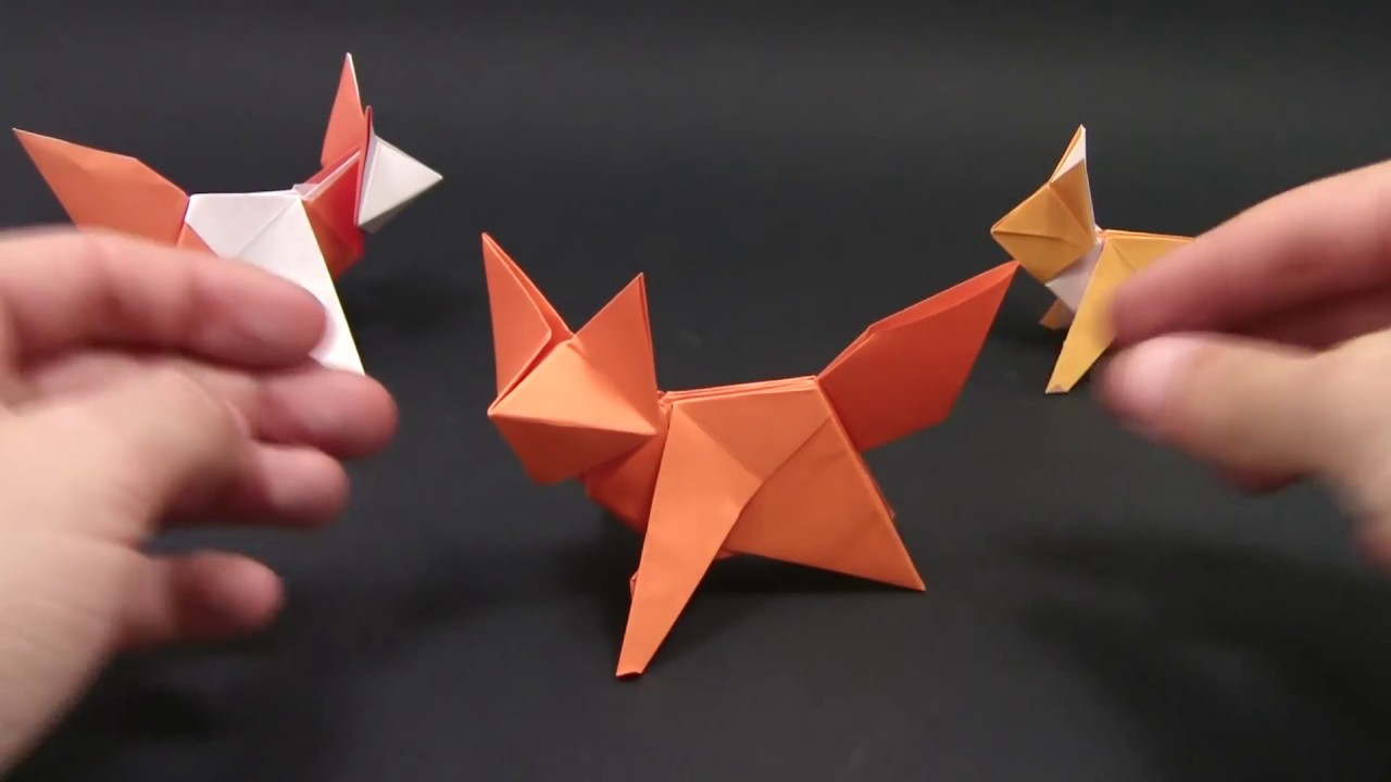 origami fox easy yakomoga origami easy tutorial [ 1280 x 720 Pixel ]