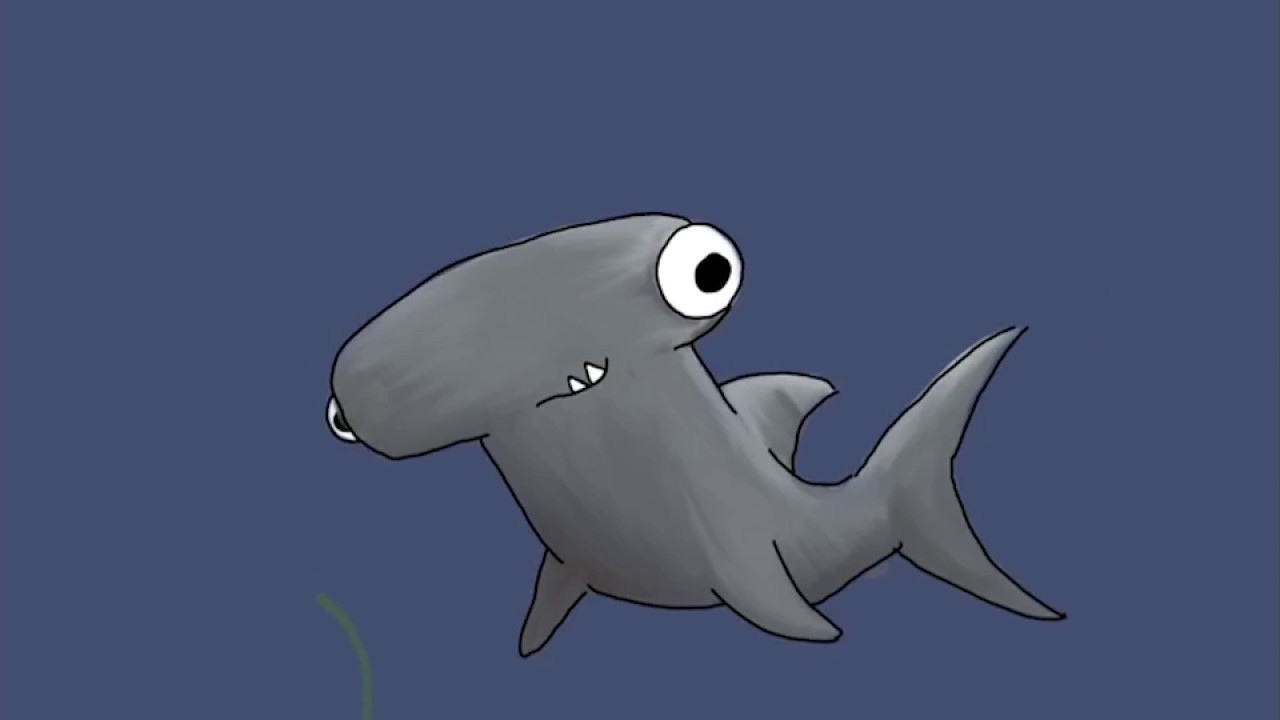 cartoon hammerhead shark drawn on ipad using autodesk sketchbook rh youtube com Hammerhead Shark Drawings cartoon hammerhead shark pics