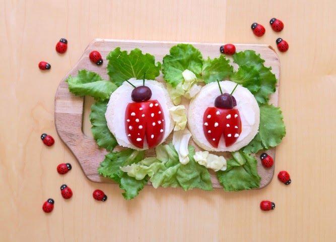 Come realizzare delle coccinelle con pomodori e olive - Pinguini di natale immagini ...