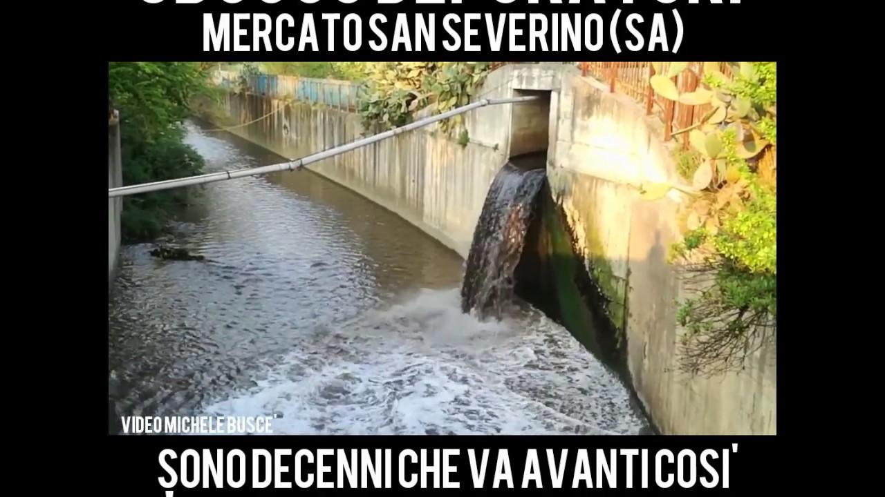 Depuratore di Mercato San Severino. Acqua non depurata. - YouTube