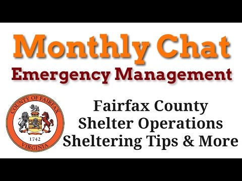 OEM Monthly Chat ~ Sheltering Operations and Shelter in Place
