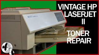 Vintage HP LaserJet II Toner Cartridge Repair - Beautiful Prints