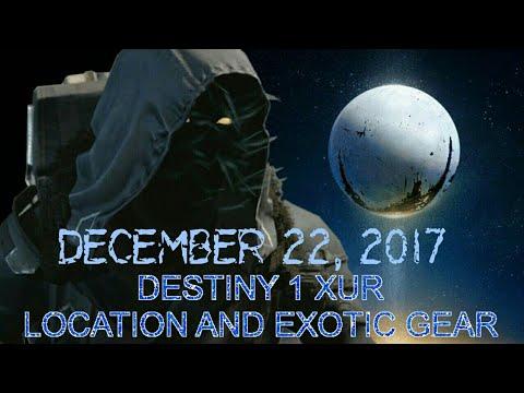 Destiny 1 XUR Location Guide December 22 2017