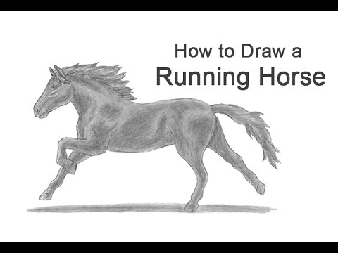 How to Draw a Horse Running - YouTube